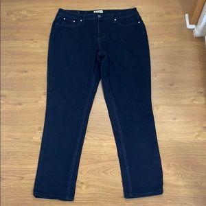 Earl Jeans Size 14 Dark Blue Straight Leg Stretchy